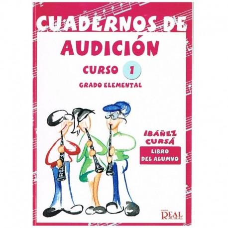 Ibañez/Cursá. Cuadernos De Audición 1 Alumno. Grado Elemental (2006). Real Musical
