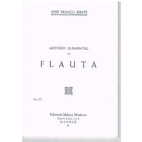 Franco Ribate. Método Elemental de Flauta