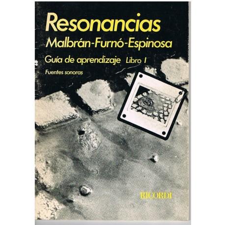 Malbrán/Furnó/Espinosa. Resonancias. Guia de Aprendizaje Libro 1. Fuentes Sonoras. Ricordi