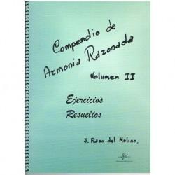 Raso del Mol Compendio de Armonia Razonada Vol.2 Ejercicios Resueltos