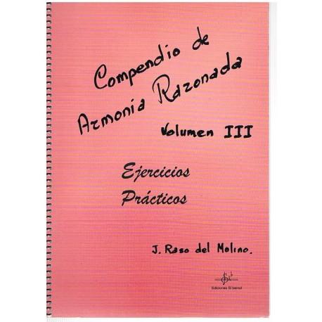 Raso del Mol Compendio de Armonia Razonada Vol.3 Ejercicios Prácticos