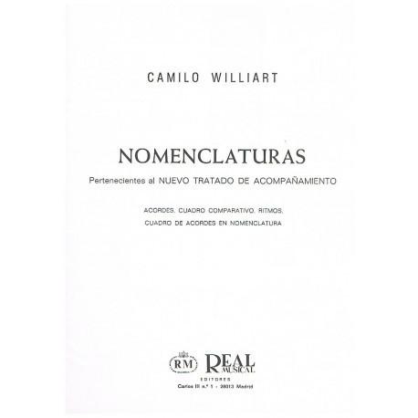 Williart. Nomenclaturas Del Nuevo Tratado de Acompañamiento (Piano). Real Musical
