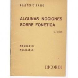 Pardo, Gualterio. Algunas Nociones Sobre Fonética