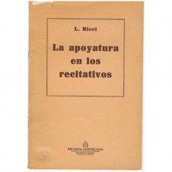 Ricci, L. La Apoyatura en...
