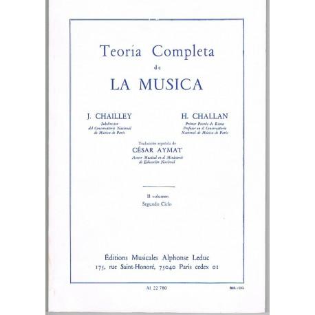 Chailley/Challan. Teoría Completa de la Música Vol.II Segundo Ciclo. Leduc