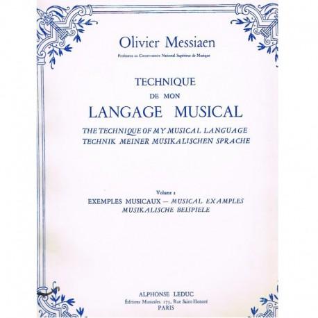 Messiaen, Olivier. Technique de mon Langage Musical Vol.2. Exemples Musicaux. Leduc