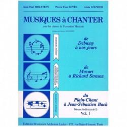 Holstein/Lev Musiques à Chanter Vol.1
