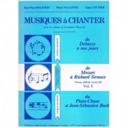 Holstein/Lev Musiques à Chanter Vol.8