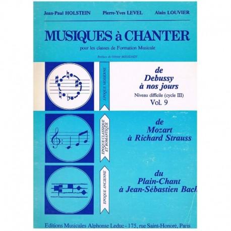 Holstein/Level/Louvier. Musiques à Chanter Vol.9. Leduc
