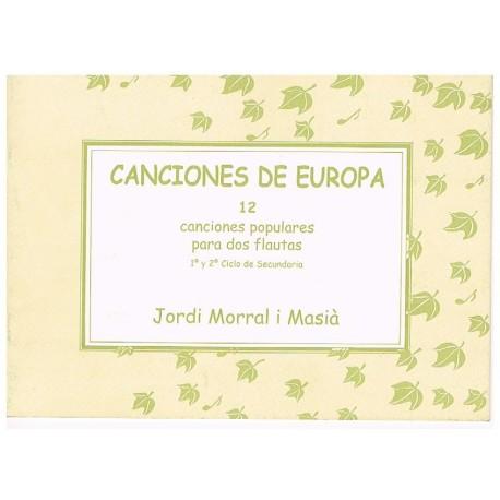 Morral i Mas Canciones de Europa. 12 Canciones Populares para 2 Flautas
