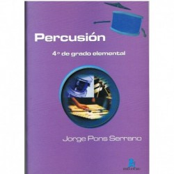Pons Serrano Percusión. 4º Grado Elemental