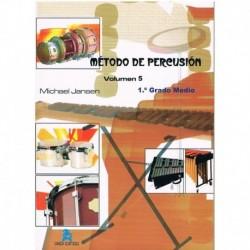 Jansen, Mich Método de Percusión Vol.5. 1º Grado Medio