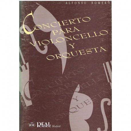 Romero, Alfonso. Concierto para Violoncello y Orquesta (Full Score). Real Musical
