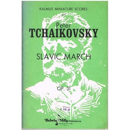 Tchaikovsky. Marcha Eslava Op.31 (Full Score). Kalmus