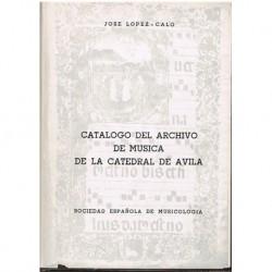 López-Calo. Catálogo del Archivo de Música de la Catedral de Ávila
