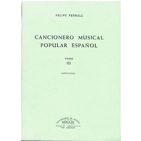 Pedrell, Fel Cancionero Musical Popular Español Tomo 3