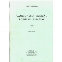 Pedrell, Fel Cancionero Musical Popular Español Tomo 4