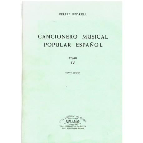 Pedrell, Felipe. Cancionero Musical Popular Español Tomo IV