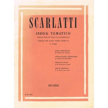 Scarlatti, Doménico. Índice Temático de las Sonatas Para Clavicémbalo. Ricordi