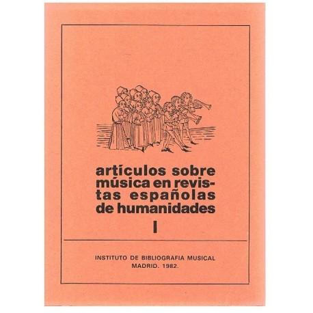 Varios. Artículos Sobre Música en Revistas Españolas de Humanidades I