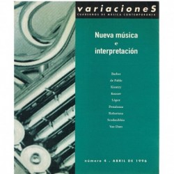 Revista Variaciones nº4. Nueva Música e Interpretación