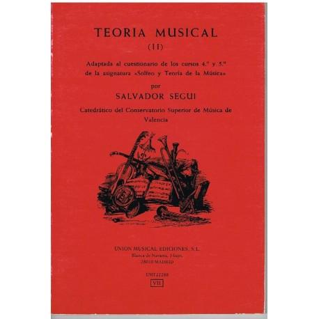 Seguí, Salvador. Teoría Musical (II). Ume