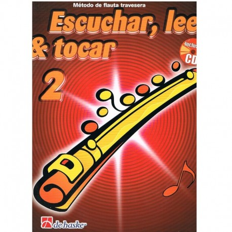 Broers/Kastelein. Escuchar, Leer y Tocar Vol.2 +CD (Flauta). De Haske