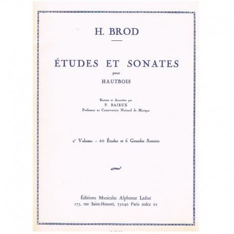 Brod, H. Estudios y Sonatas Vol.2 (Oboe)