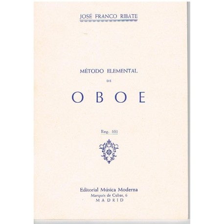 Franco Ribat Método Elemental de Oboe