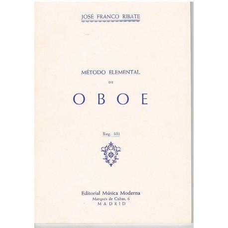 Franco Ribate. Método Elemental de Oboe