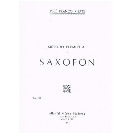 Franco Ribate. Método Elemental de Saxofón. Música Moderna