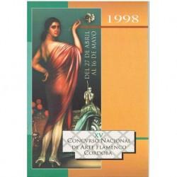 Varios. XV Concurso Nacional de Arte Flamenco. Córdoba 1998