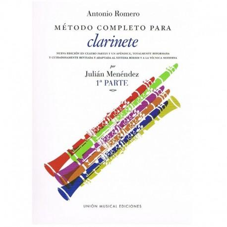 Romero, A. Método Completo para Clarinete Vol.1. UME