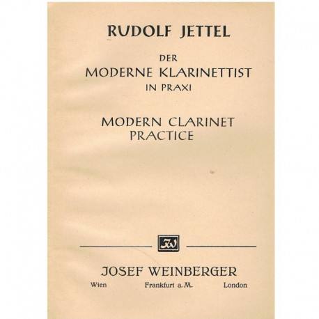 Jettel, Rudo Práctica Moderna del Clarinete Vol.2