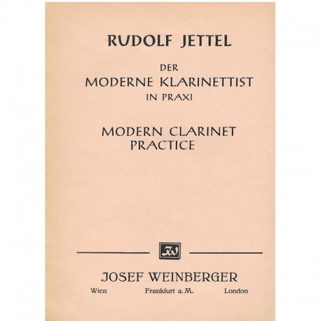 Jettel, Rudolf. Práctica Moderna del Clarinete Vol.3