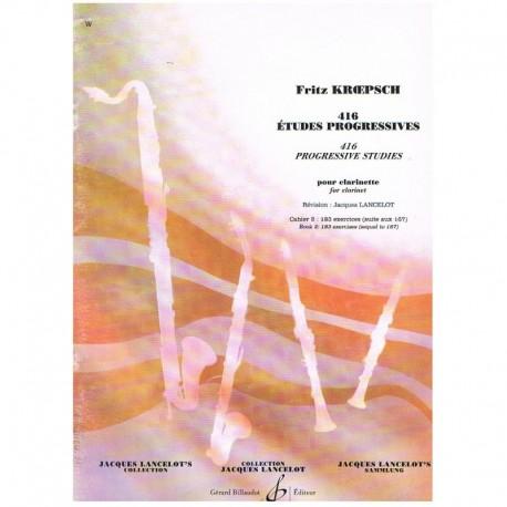 Kroepsch. 416 Estudios Progresivos para Clarinete Vol.2 (183 Ejercicios)