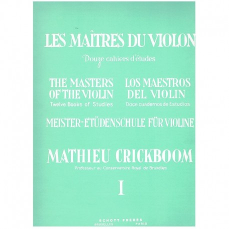 Crickboom, M Los Maestros del Violín Vol.1