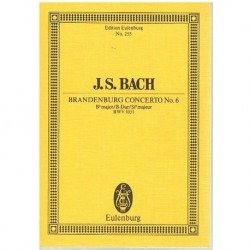 Bach, J.S. Concierto de Brandemburgo Nº6 BWV 1051 (Partitura de Bolsillo)