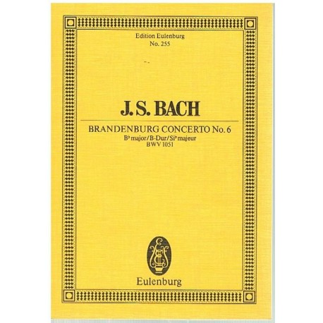 Bach, J.S. Concierto de Brandenburgo Nº6 BWV 1051 (Full Score Bolsillo). Eulenburg