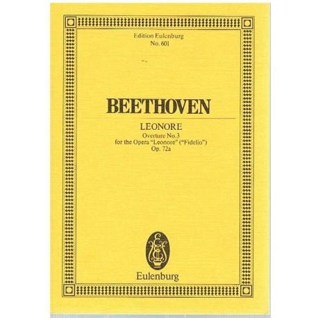 Beethoven. Leonore. Obertura Nº3 OP.72a (Full Score Bolsillo). Eulenburg
