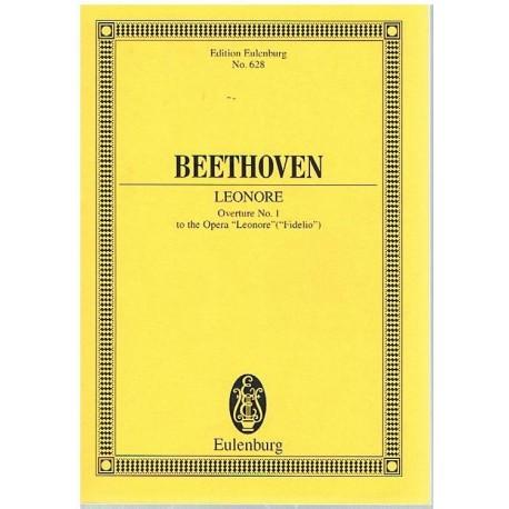 Beethoven. Leonore. Obertura Nº1 (Full Score Bolsillo). Eulenburg