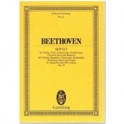 Beethoven Septeto Mib Mayor Op.20 (Partitura de Bolsillo)