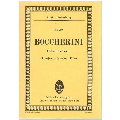 Boccherini. Concierto Para Cello en Sib Mayor (Full Score Bolsillo). Eulenburg