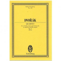 Dvorak Cuarteto Op.51 Mib Mayor 2Violines/Viola/Cello (Partitura de Bol