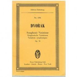 Dvorak. Variaciones Sinfónicas Op.78 (Partitura de Bolsillo)