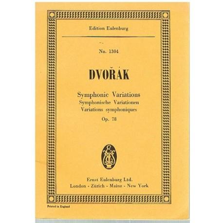 Dvorak. Variaciones Sinfónicas Op.78 (Partitura de Bolsillo). Eulenburg