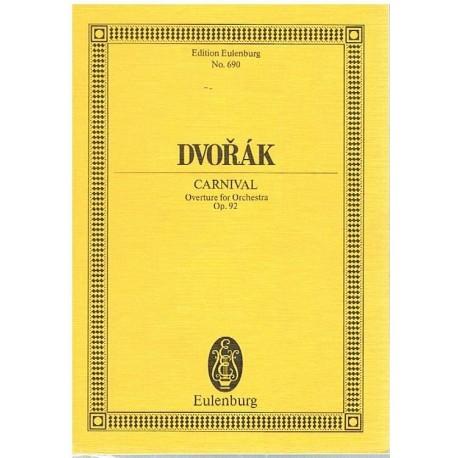 Dvorak. Carnaval Op.92. Obertura (Full Score Bolsillo). Eulenburg