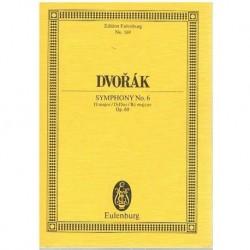 Dvorak. Sinfonía Nº6 en Re Mayor Op.60 (Partitura de Bolsillo)