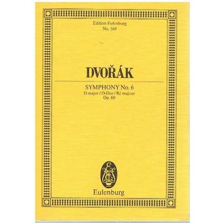 Dvorak. Sinfonía Nº6 en Re Mayor Op.60 (Full Score Bolsillo). Eulenburg