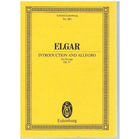 Elgar. Introducción y Allegro Op.47 para Cuerdas  (Full Score Bolsillo). Eulenburg